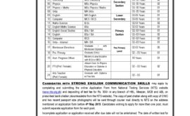 CAA Model Schools College Teaching Jobs NTS Test Roll No Slip