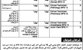 Health Department Chitral Jobs
