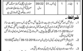 Bahawalpur Irrigation Department Jobs November 2019