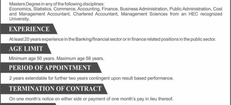 National Savings Jobs Islamabad Finance Division