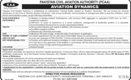 Civil Aviation Authority PCAA Jobs November 2019