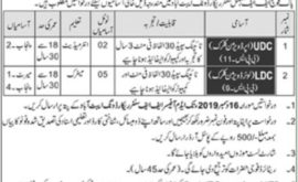 Pak Army FF Regimental Center Record Wing Abbotabad Jobs