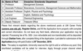UOW University of Wah Jobs