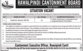 Rawalpindi Cantonment Board Jobs