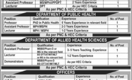 Prime Institute of Health Sciences Islamabad PIHS Jobs