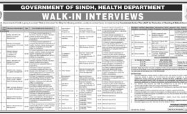 Health Department Sindh Jobs