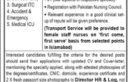 PAF Hospital Jobs Islamabad