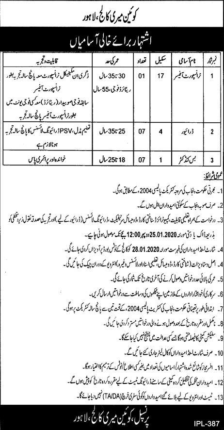 Queen Mary College Jobs