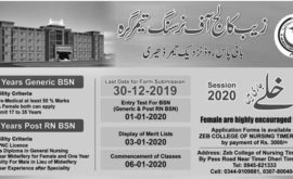 Zaib College Of Nursing Timergara Generic BSN RN BSN Merit List