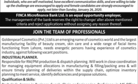 FINCA Microfinance Bank Jobs