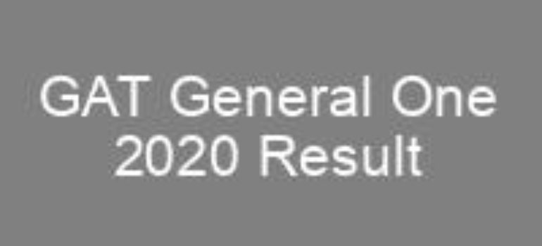 GAT General One 2020 NTS Result
