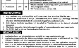 Paraplegic Centre Peshawar Jobs