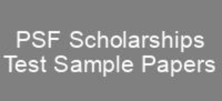 Pakistan Science Foundation PSF Scholarships Sample Papers
