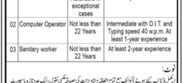 Cadet College Sanghar Jobs
