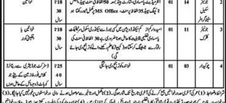 District Courts Kohat Jobs
