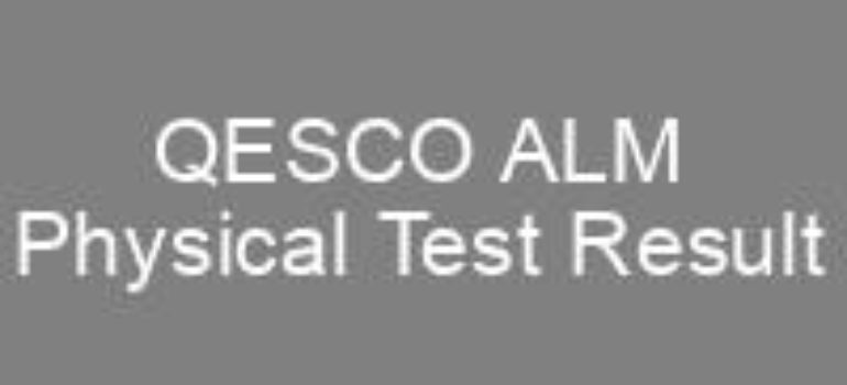 Quetta Electric Supply Company QESCO ALM NTS Physical Test Result