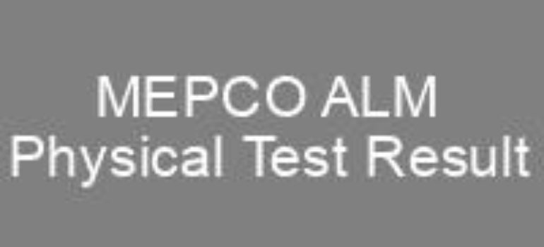 MEPCO ALM Physical Test Result