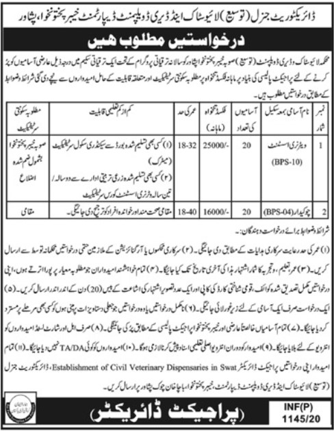 Livestock And Dairy Development Department Peshawar Jobs