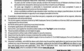 NAB Jobs National Accountability Bureau 2020