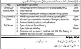 Punjab Rangers Teaching Hospital Jobs Lahore