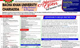 Bacha Khan University Charsadda Bachelor Mphil PhD Admission Merit list