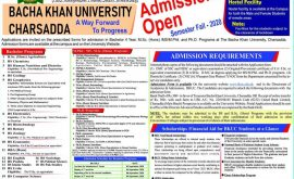 Bacha Khan University BKUC Admissions Bachelor Mphil PhD Merit List