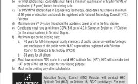 HEC Overseas Scholarships PhD MS M Phil Merit List
