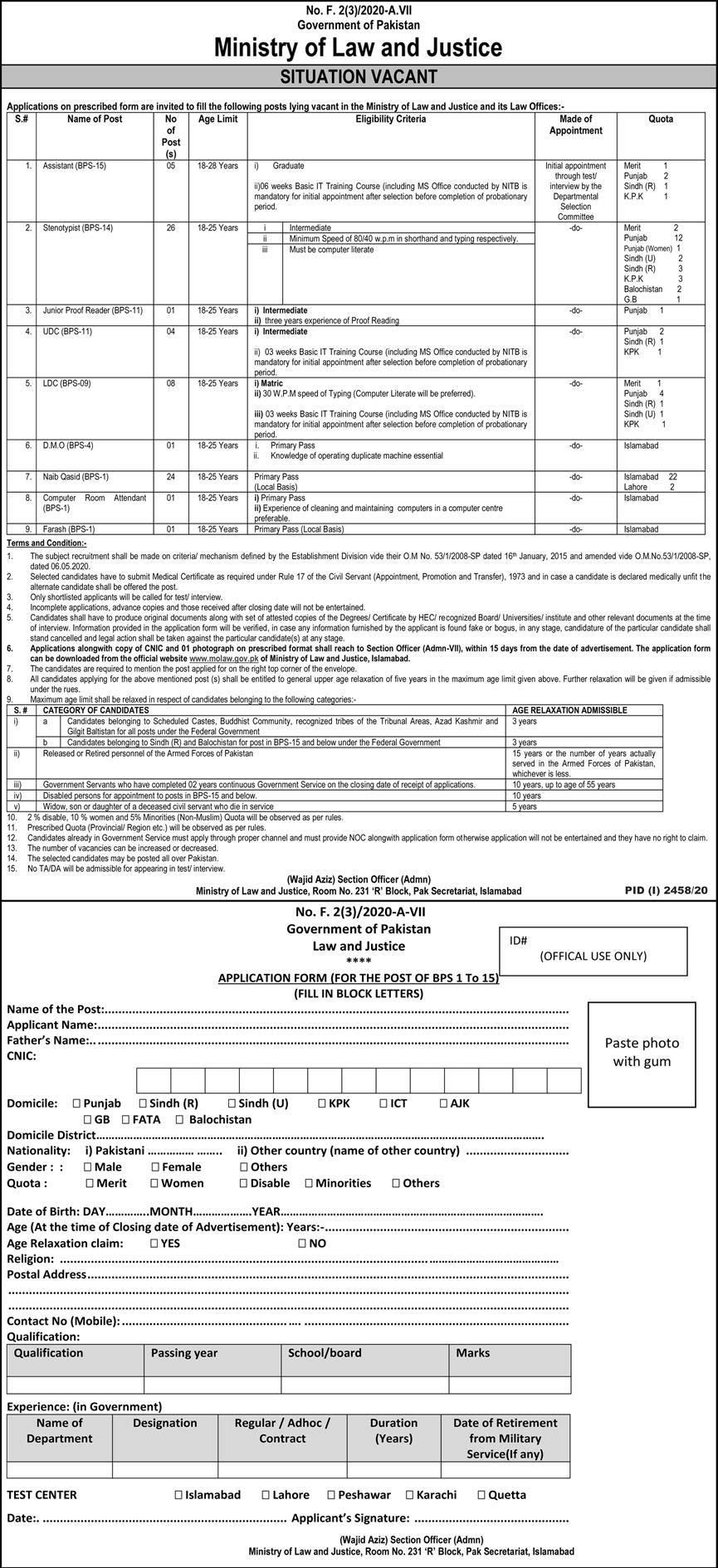 Ministry of Law Justice Molaw Jobs
