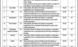 Printing Stationery Department KPK ETES Jobs