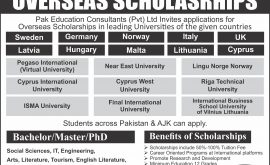 Pak Education Consultant PEC Overseas Scholarships