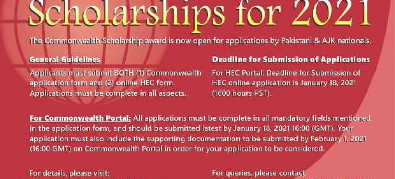 HEC UK PhD Commonwealth Scholarship Merit List