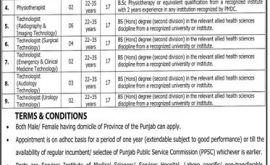 Latest Jobs In Lahore Services Hospital 2021