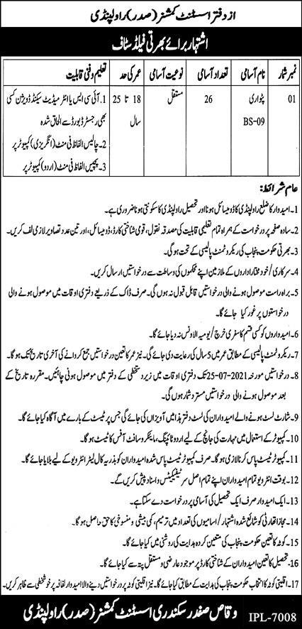 Government Jobs For Intermediate Qualification In Pakistan
