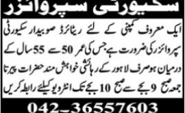 Retired Army Person Jobs Security Supervisor Jobs Lahore