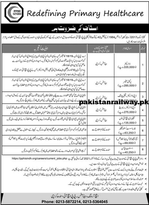 Sindh Government Jobs All Department 2021 At PPHI Sindh & SBEP Sindh Basic Education Program