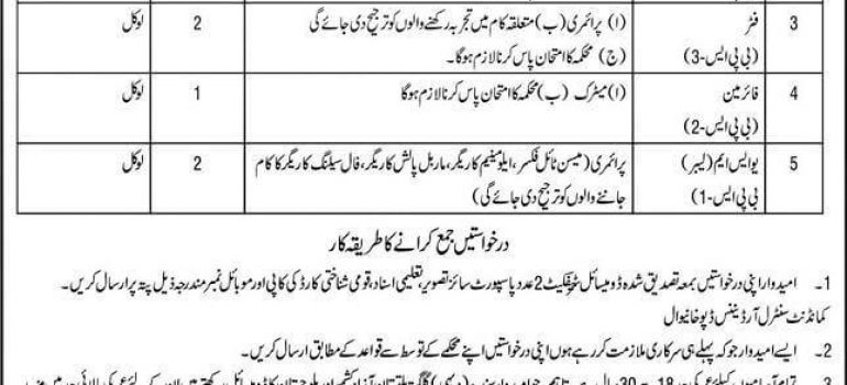 New Govt jobs in Pakistan At Army Central Ordnance Depot Khanewal