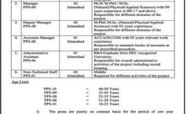 Government jobs in Islamabad 2021 At Pakistan Science Foundation PSF